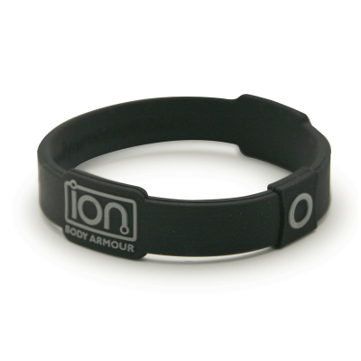 Black & Silver Ion Band - enlarged view