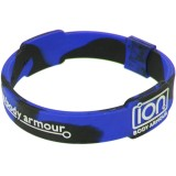 Black with Blue Mixed ION Wristband